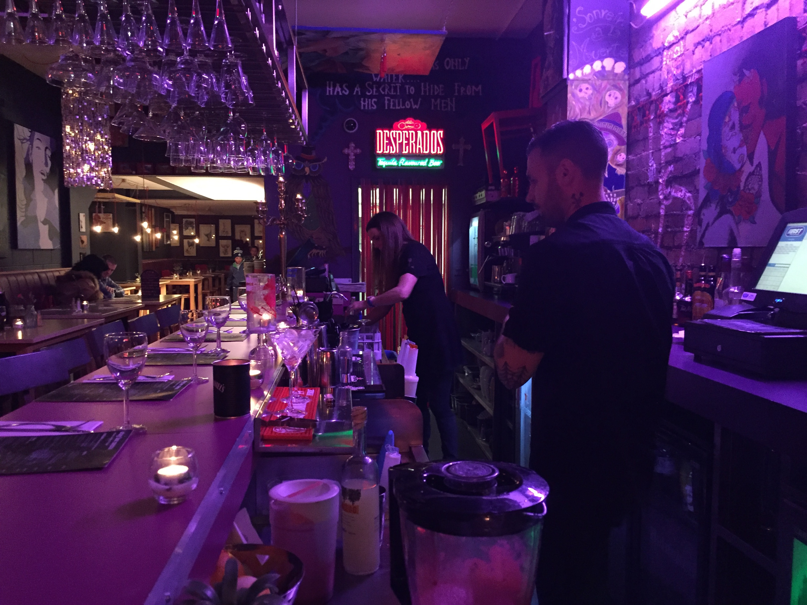 Restaurant review birdcage belfast stay bar menu for Food bar belfast